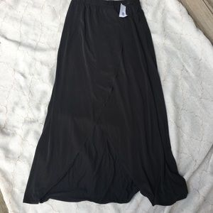 MOA MOA NWT Wrap Skirt Charcoal Grey High Low Maxi